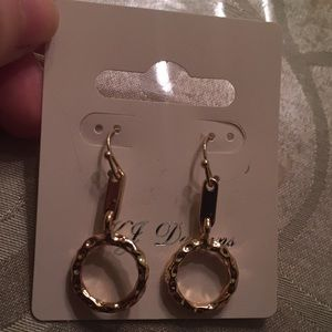 KJ Designs gold earrings